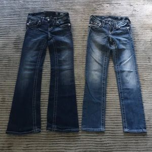 Two pairs of Girls size 10 Miss Me Jeans